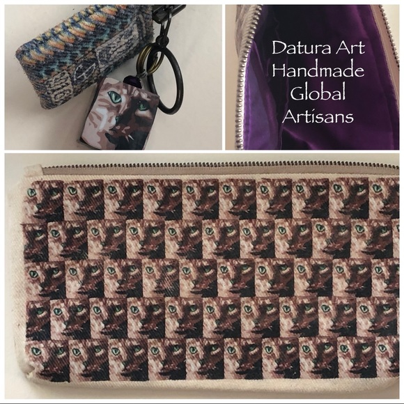 Datura Art Handmade Global Artisan Cat Pouch
